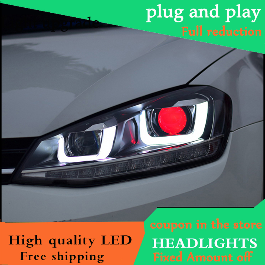 Car Styling Head Lamp For Vw Golf 7 Mk7 Headlights 2014
