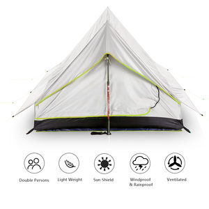 Image 4 - Lixada Ultralight 2 Person Double Door Mesh Tent Shelter Perfect for Camping Backpacking and Thru Hikes Tents Outdoor Camping