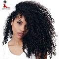 3B 3C Странный Вьющиеся Клип В Наращивание Волос Человека 7 Шт. Природных бразильский 8А Афроамериканец Вьющиеся Клип В Наращивание Волос Клип Ins