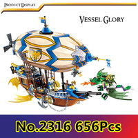 CX 2316 656Pcs Model building kits Compatible with Lego Queen Anne's Revenge Model 3D Bricks figure toys for childre