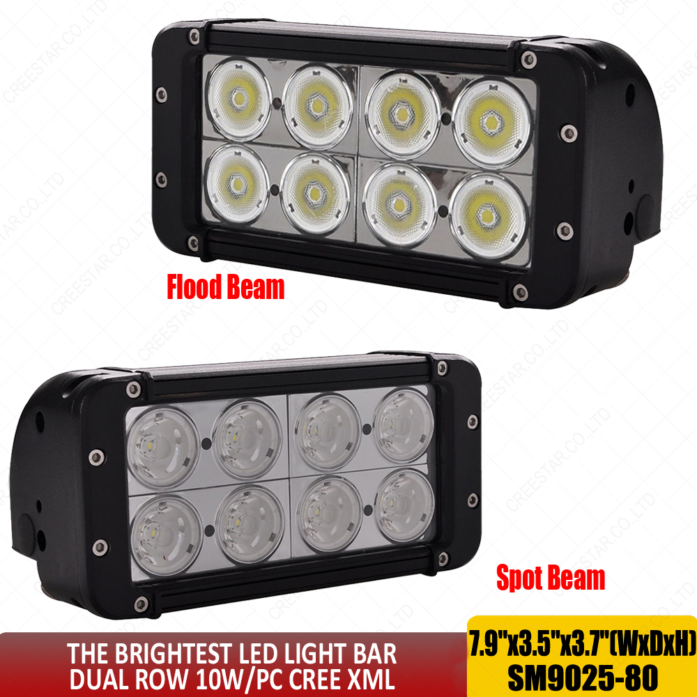 7.9 inch 80W Led Spot Flood Beam 12V 24V Work Lights Driving Fog Light Auxiliary Driving Lamp for Off road Truck Car ATV SUV x1 96w 9000lm off road led light bar spot flood beam combo for toyota bmw jeep cabin boat suv truck car atv fog lights