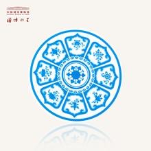 Porcelain Print Blue Round