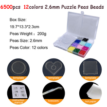 6500pcs/set 12 Color Hama Beads 2.6mm DIY Pegboard Tool Tweezer Puzzle Peas Board Colors Toys for Children DOLLRYGA