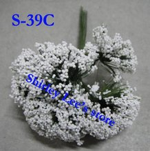 Wholesale--144 bunches=1728pcs Fabulous Mini White Heather Bunch,Favour Box Decoration(S-39C),(FREE SHIPPING by Express)