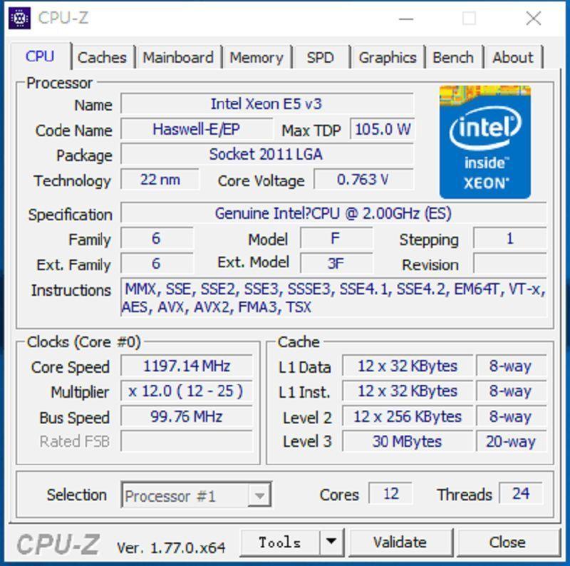 Image 2 - Original Intel Xeon processor E5 2658V3 QEYP or QEYR ES version 2.00GHZ 30M 12CORE E5 2658 V3 LGA2011 3 E5 2658V3 E5 2658 V3-in CPUs from Computer & Office