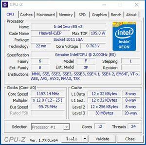 Image 2 - Original Intel Xeon prozessor E5 2658V3 QEYP oder QEYR ES version 2.00GHZ 30M 12CORE E5 2658 V3 LGA2011 3 E5 2658V3 e5 2658 V3