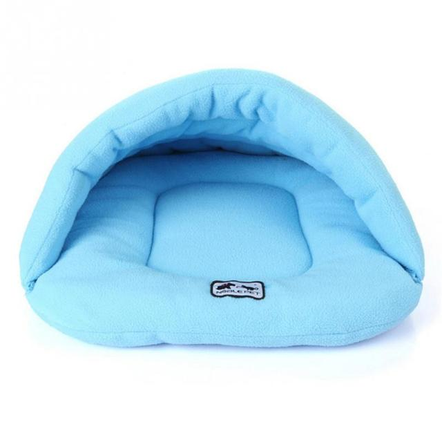 6 Colors Soft Fleece Winter Warm Pet Dog Bed 4 different size Small Dog Cat Sleeping Bag Puppy Cave Bed