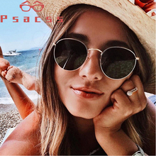 Psacss NEW Metal Round Sunglasses Men Women Vintage Rainbow Color Trend Brand Designer Sun Glasses oculos de sol feminino VU400