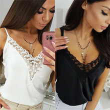 Sexy Women Sleeveless T Shirt Summer V-neck Loose Casual Female Tops Vest