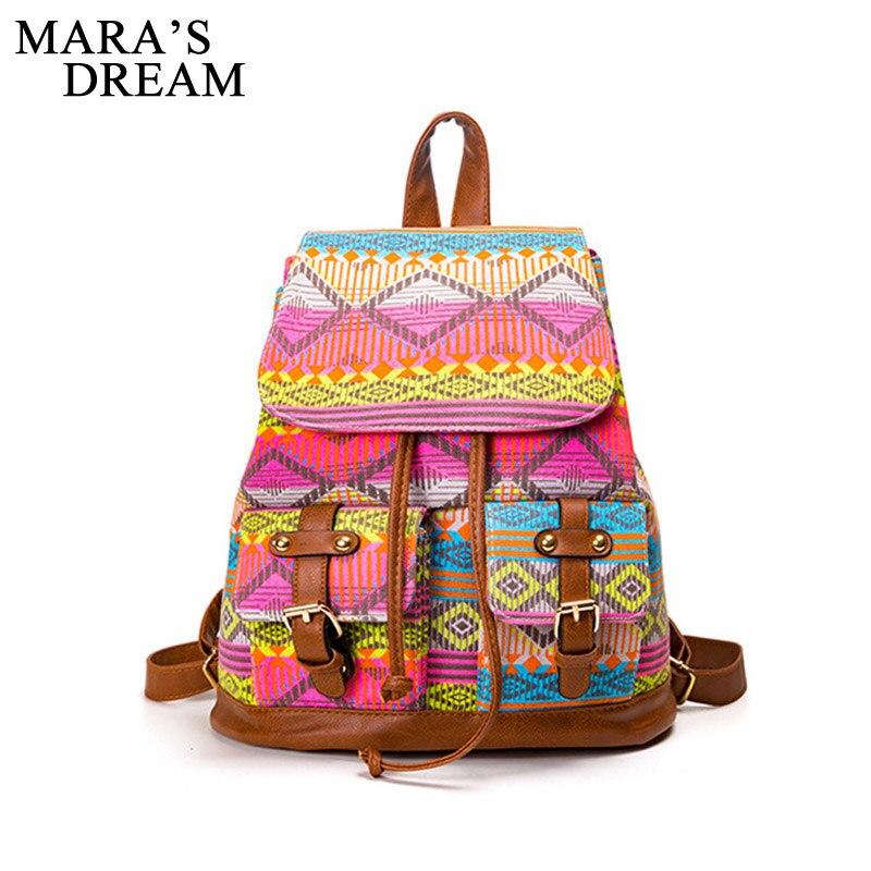Maras Dream Girls Backpacks Schoolbag Ethinic Travel Rucksack Shoulder Bags Women National Style Backpack Girls Pack Bag Back