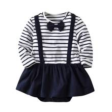 Newborn Baby Bodysuits Gentlemens Style Outfits Cotton Toddler Girls Dresses New Infant Boys Clothing Twin Clothes 0-4Y