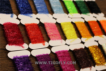 Free Shipping!! 21 Assorted Colors Fly Fishing Tinsel Chenille Crystal Flash Line fly tying material