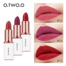 O.TWO.O 12 Colors Velvet Lipstick Waterproof Long Lasting Makeup Moisturizer Pig