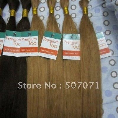 "16"" - 26"" remy bulk human hair bulk braiding hair bulk hair extensions #12 light golden brown 100g/pc 5pcs/lot  DHL free"