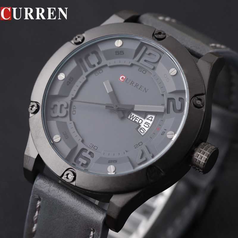 CURREN Watch Men Watches Top Brand Luxury Famous Male Clock Men Quartz Watch Wrist Hodinky Quartz-Watch Relogio Masculino 8251 curren mens watches top brand luxury relogio masculino big dial men quartz military wrist watch men clock men s watch 8176