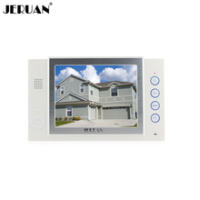 "JERUAN 8"" color TFT LCD monitor intercom system only monitor video door phone  video recording +power adapter"