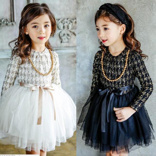 f91d269695126 Autumn winter girl dresses long sleeve vintage princess elegant communion  dress boutique kid clothing evening gown party tutuY02
