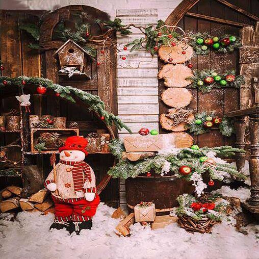 Custom vinyl cloth cute Christmas decoration photography backdrops for kids photo studio portrait backgrounds props ST-598-a custom vinyl print cloth red merry christmas photography backdrops for children photo studio portrait backgrounds props s 1004