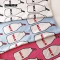 100% Do Bebê Do Algodão Cobertor Tampa de Cama Da Criança Infantil de Malha Coração Garrafa De Leite Impressão Cobertor Para Cama Sofá Lance Colcha 90*110 cm