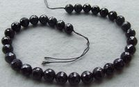 8SE10747 12mm Natural Black Tourmaline Round Faceted 15.7 Beads