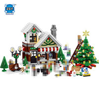 Hot Girl Series Cinderella Christmas Hut Compatible Lepins 945PCS Building Blocks For Toddlers Blocks Construction Toy