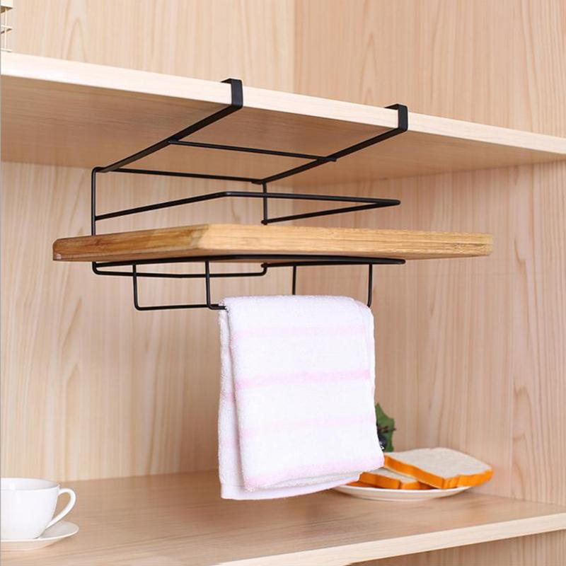 Hook Type Multifunction Cabinet Clothes Storage Rack Home Wall Hanging Cupboard Cutting Board Holder Tableware Storage Racks