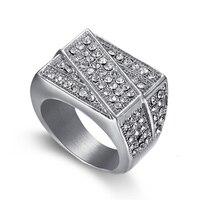 Punk đồ trang sức bán buôn-shaped titanium thép ring cho phụ nữ retro phóng đại thép không gỉ ring (RI103150)