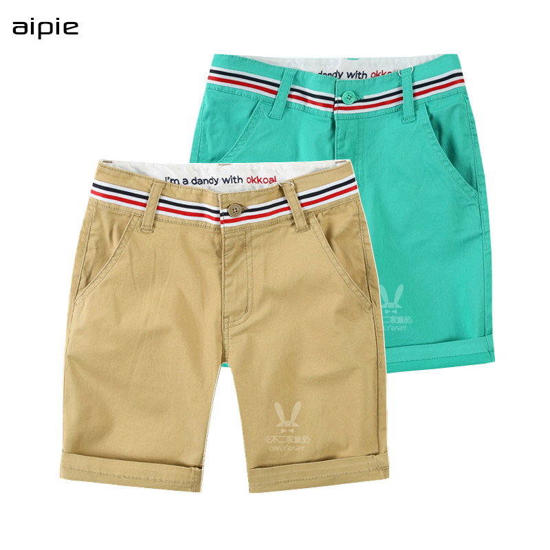 Good quality Children's   Pants   &   Capris   Classic leisure Solid Knee length Boy's   pants   For 4-12 Years Summer wear