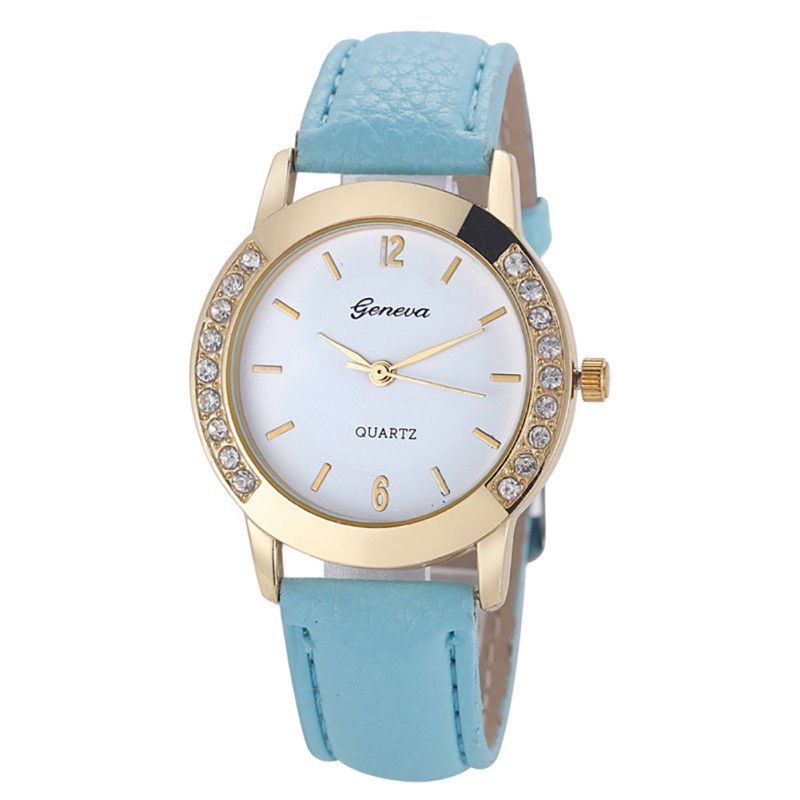 Women Geneva Watch Fashion Læder Rustfrit Stål Analog Quartz - Dameure - Foto 5