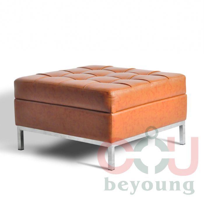 Amazing Stainless Steel Square Foot Leather Ottoman Stool Footrest Ocoug Best Dining Table And Chair Ideas Images Ocougorg
