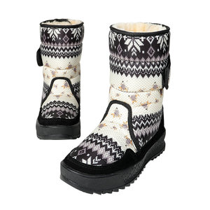 Image 5 - Womens boots winter warm shoes snowboot non slip Rubber outsole snowflake nice looking big plus size free shipping black flower