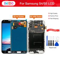 Top LCD For Samsung Galaxy S4 i9500 i9505 i9515 i337 S5 i9600 SM G900 G900 LCD Display Touch Screen Digitizer+Frame Replacement