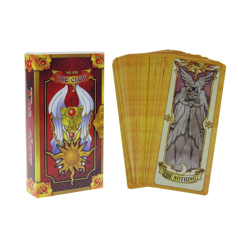 56pcs Anime Card Captor Sakura The Clow Cards Set Cosplay Prop Party Supplies