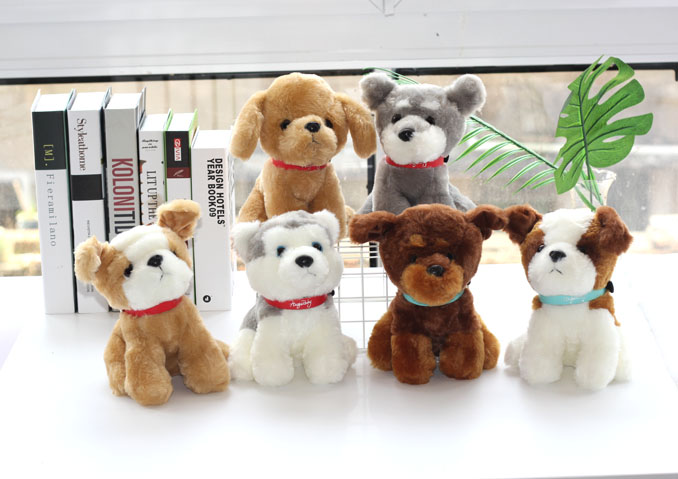 1pc 20cm funny Wolfdog Golden Retriever Chapu dog Husky schnauzer little plush doll nove ...
