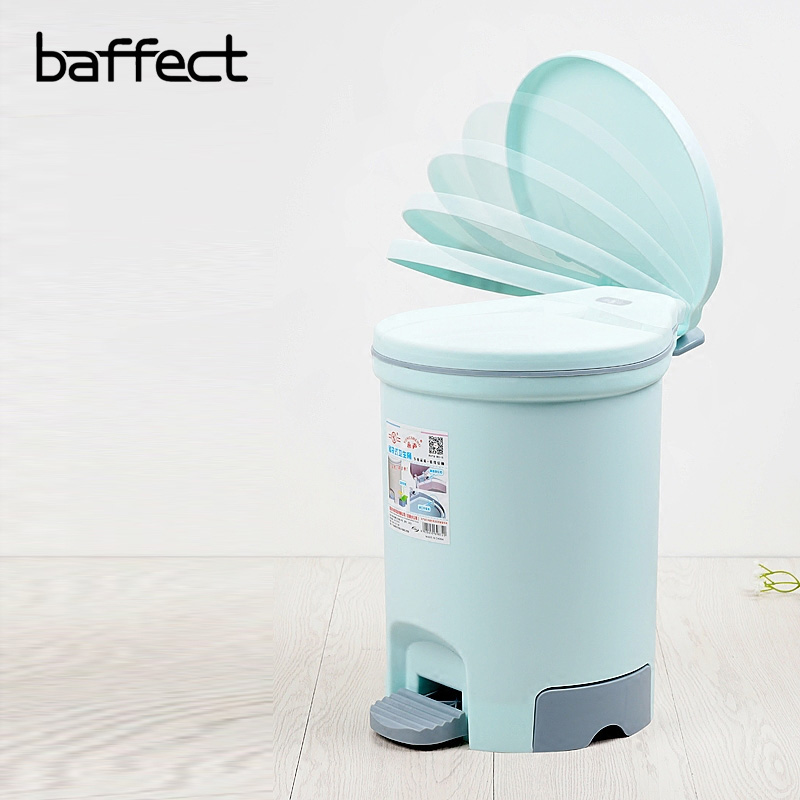 Baffect Dustbin Food Pedal Garbage Can Room Dustbin With High Quality Material For Home Cleaning Tool Kitchen Bathroom Trash Can