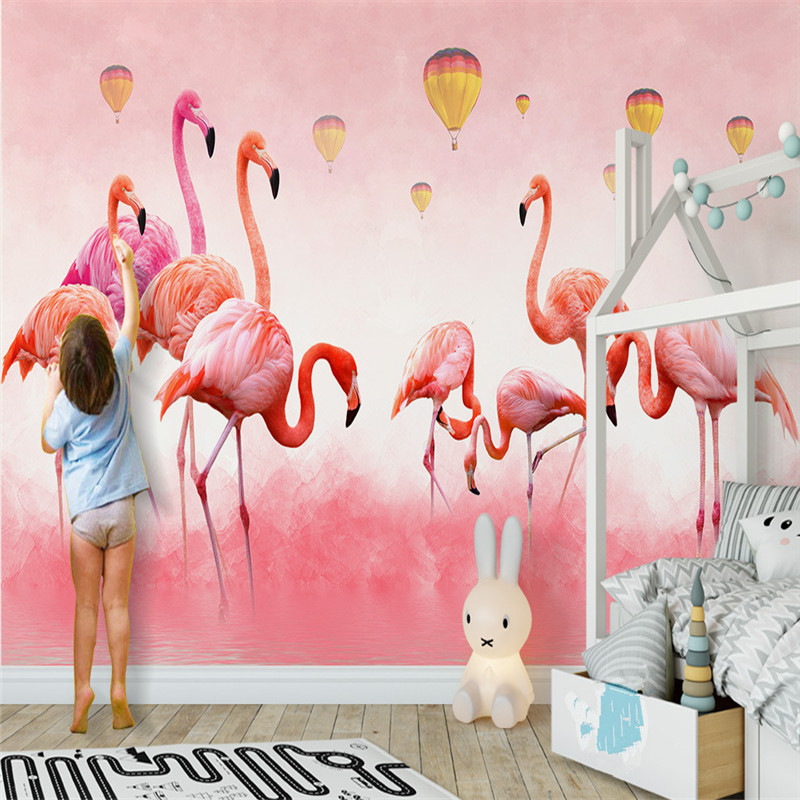 Modern Custom Photo Wallpapers for Walls 3D Pink Flamingo Nordic Wall Papers Murals for Living Room Background Murals Home Decor wallpaper for walls 3 d modern trdimensional geometry 4d tv background wall paper roll silver gray wallpapers for living room