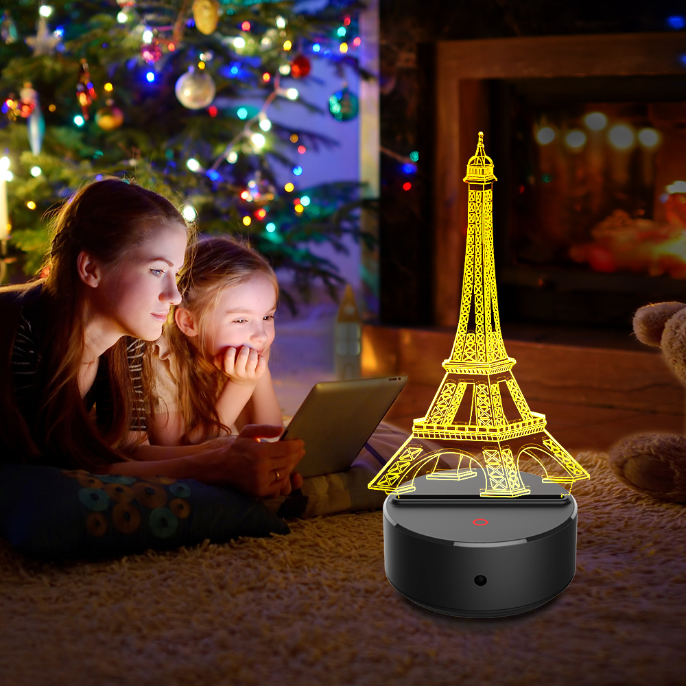 Eiffel Tower LED 3D Night Lights Creative Ambient Light Desk Lamp Home Lighting Bulbing Color Change Luminaria Kids Gifts NewEiffel Tower LED 3D Night Lights Creative Ambient Light Desk Lamp Home Lighting Bulbing Color Change Luminaria Kids Gifts New