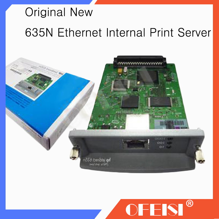 100% New Original JetDirect 635N J7961G Ethernet Internal Print Server Network Card and DesignJet Plotter Printer