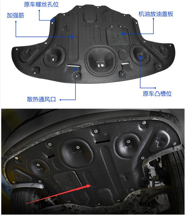 car styling case For Hyundai Tucson 2015 2017 Car Engine Protection Bonnet Board Plate Cover Engine Board Cover accessories
