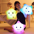 NEW 38cm*35cm Star Led Light Pillow Cute Star Luminous Pillow with Colorful Light Birthday/Valentine's Day Gift