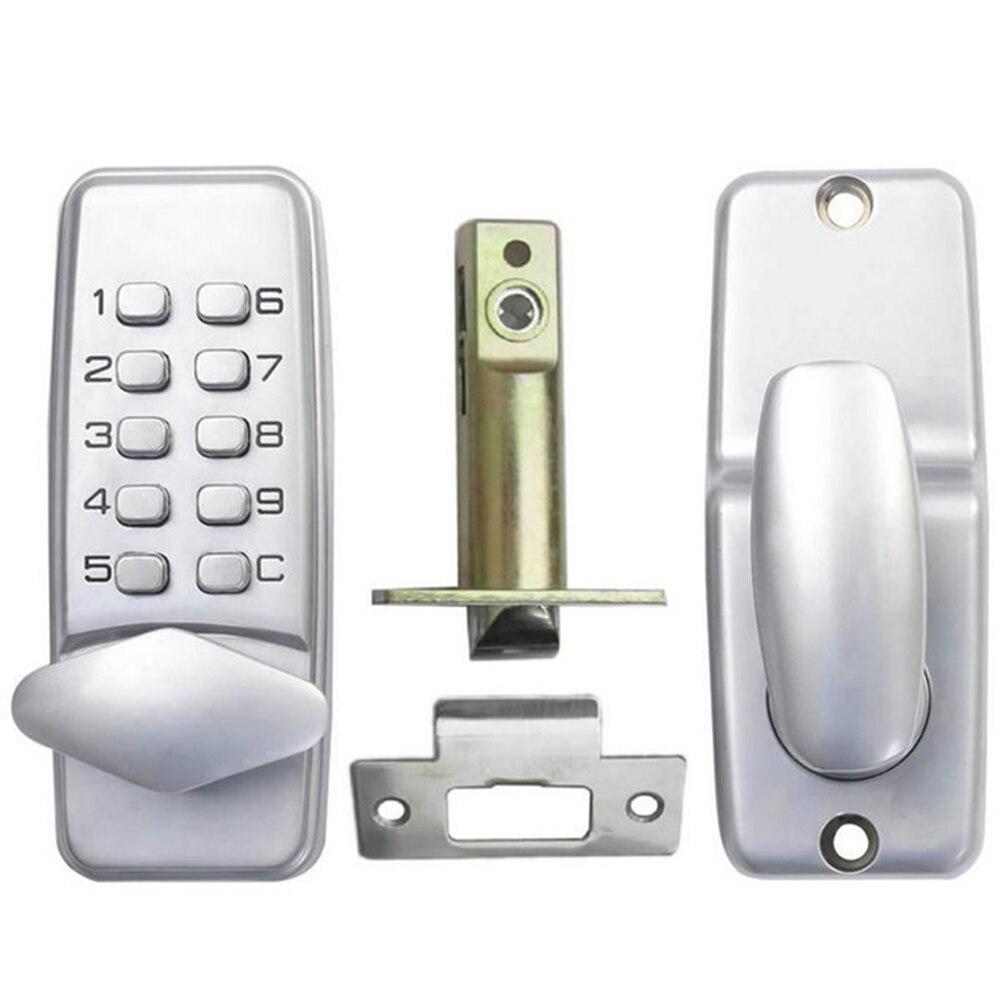 Mechanical Code Lock Password Entry Door Locks Keyless Security Zinc Alloy Waterproof with Digital Keypad for