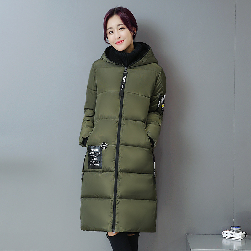 2016 New Fashion Winter Jacket Women Long Thick Warm Female Wadded Jacket Parka Hooded Slim Women Winter Coat Plus Size W060 цены онлайн