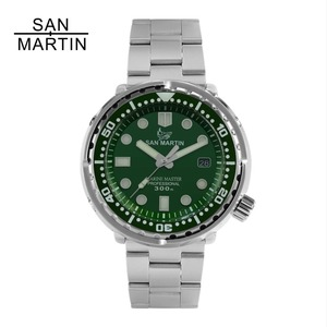 Image 1 - San Martin NEW Tuna SBBN015 Fashion Automatic Watch NH35 Movement Stainlss Steel Diving Watch 300mWater Resistant Ceramics bezel