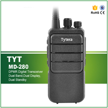 DMR Model Digital UHF Walkie Talkie Radio TYT MD-280 Monitor Priority Scan VOX Emergency Alarm Talk Around 1700MAH Transceiver