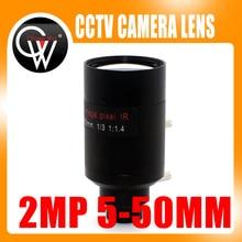 2Megapixel 5-50mm Varifocal Lens D14 Mount View About 100m For Analog/720P/1080P AHD/CVI/TVI/IP CCTV Camera