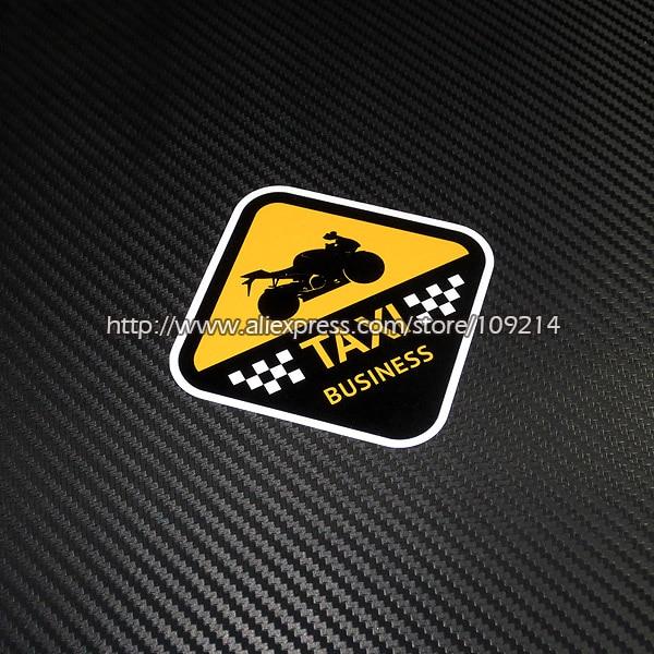 Hot sale I m TAXI Helmet Motorcycle funny Sticker Decals Waterproof 16