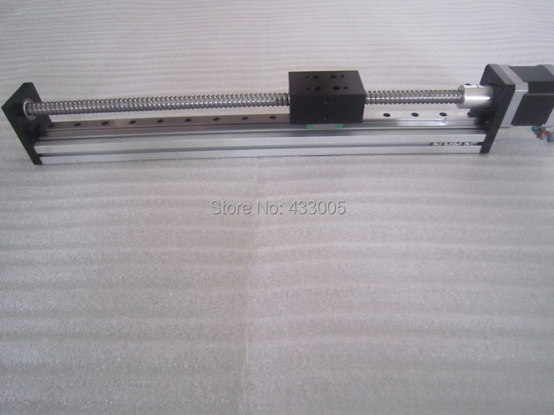 High Precision CNC SGX 1204 Ballscrew Sliding Table effective stroke 500mm+1pc nema 23 stepper motor XYZ axis Linear motion toothed belt drive motorized stepper motor precision guide rail manufacturer guideway
