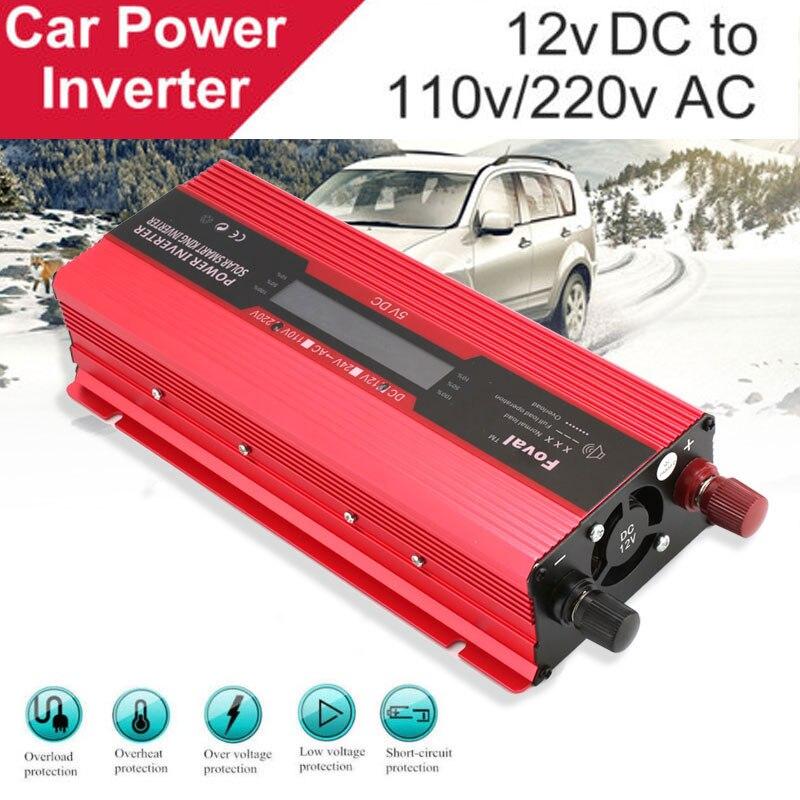 2000 W LED Affichage DC12V À AC110V/220 V Voiture Solor Onduleur Onde sinusoïdale Modifiée Tension Convertisseur Transformateur double USB Charge