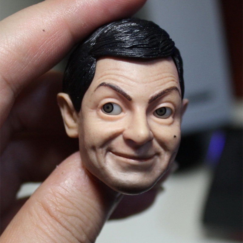 1/6 Male Head Sculpts Movable Eyes Mr. Bean Rowan Atkinson Model Toys Gifts Collections for 12 Inche Bodies Figures 12 inches male muscular body figures without neck for 1 6 scale mens head sculpts gifts collections toys