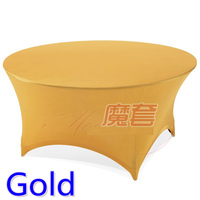 Gold Colour Wedding Table Cloth Lycra Table Cover Spandex Table Linen Hotel Banquet Party Round Tables